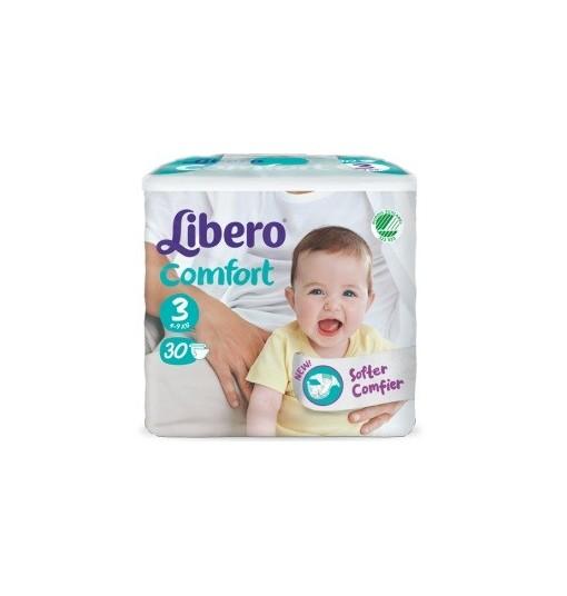 Libero Comfort 3 Pannolino Per Bambino 5-9 Kg 30 Pezzi