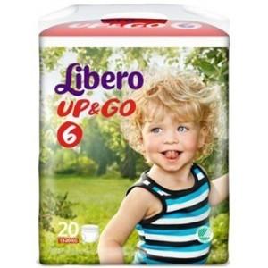 Libero Up&Go Pannolino Per Bambino Taglia 6 4X20 Pezzi