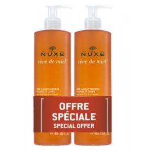 Nuxe Reve De Miel Duo Gel Lavant Surgras Visage & Corps 2 X 400