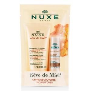 Nuxe Reve De Miel Duo Creme Mains/Ongles + Stick Levres