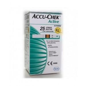 Strisce Misurazione Glicemia Accu-Chek Active Strips 25 Pezzi