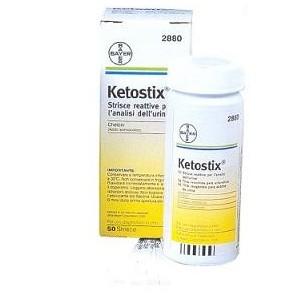 Strisce Misurazione Chetonuria Ketostix 50 Pezzi