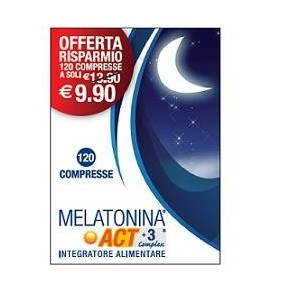 Melatonina Act 1Mg +3 Complex 120 Compresse 18 G