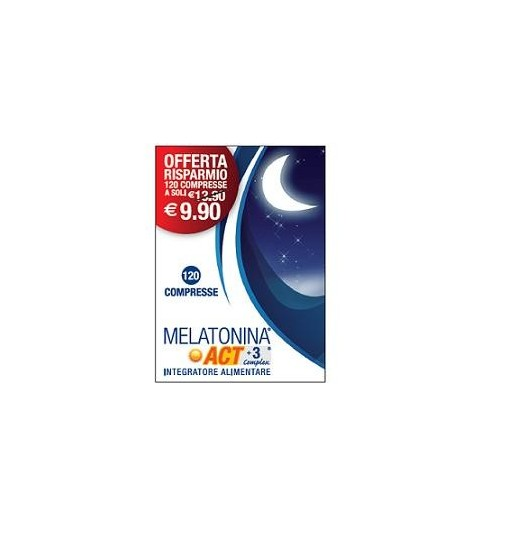 Melatonina Act 1Mg +3 Complex 120 Compresse 18 G