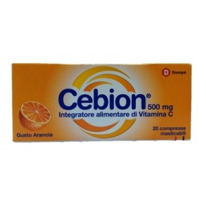 Cebion Masticabile Arancia Vitamina C 500 Mg 20 Compresse
