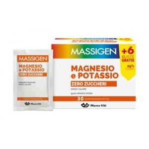 Massigen Magnesio E Potassio Zero Zuccheri 24 Bustine + 6 Gratis