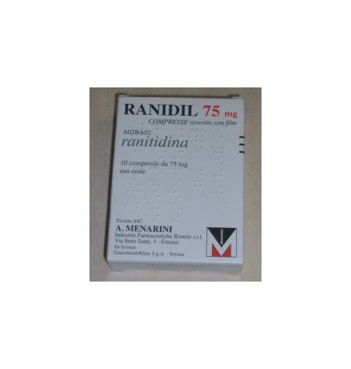 Ranidil 75 10Cpr Riv 75Mg