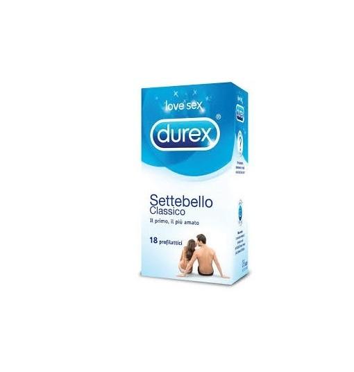 Profilattico Durex Settebello Classico 18 Pezzi