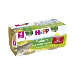 Hipp Omogeneizzato Merluzzo Con Patate Carote 2X80 G