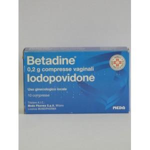 Betadine 10Cpr Vag 200Mg