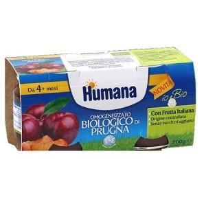 Humana Omogeneizzato Prugna Bio 2 Vasetti 100 G