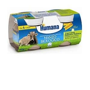 Humana Omogeneizzato Manzo Bio 2 Vasetti 80 G