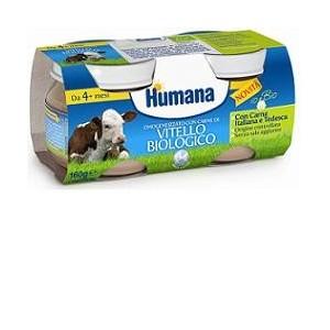 Humana Omogeneizzato Vitello Bio 2 Vasetti 80 G