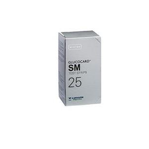 Test Strips Per Misurazione Glicemia Glucocard Sm 25 Pezzi