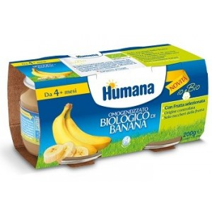 Humana Omogeneizzato Banana Biologico 2 Vasetti 100 G