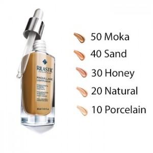 Rilastil Maquillage Fondotinta Siero Idratante Protettivo 10 30