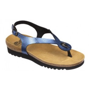 Calzatura Kenna Sandal Printed Synthetic Womens Blue 40 Tomaia