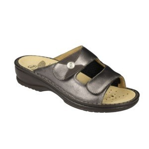 Calzatura Ortopedica Costanza Pearlized Leather Womens Pewter